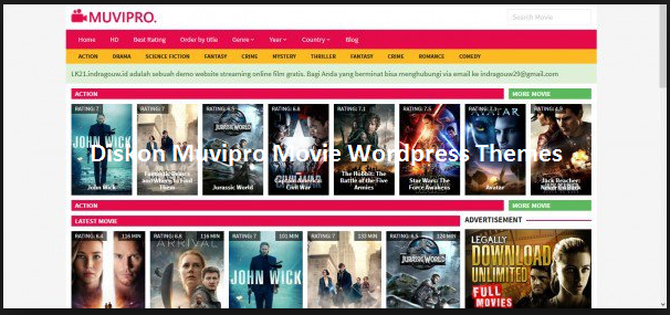 Diskon Muvipro Movie Wordpress Themes