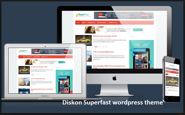 diskon superfast wordpress theme kentooz