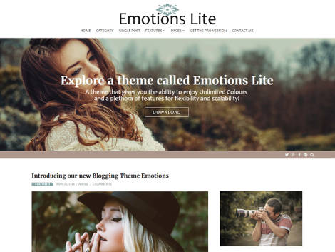 Emotions Lite Wordpress Theme Free