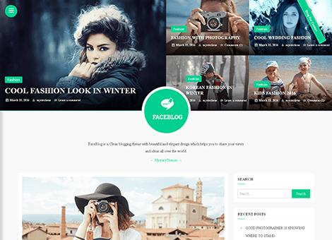FaceBlog Theme WordPress