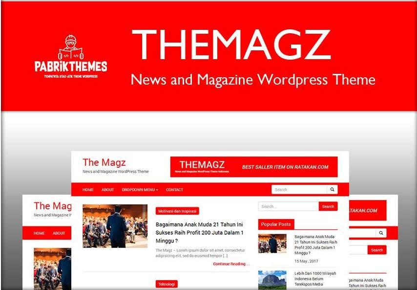 The Magz News and Magazine WordPress Theme