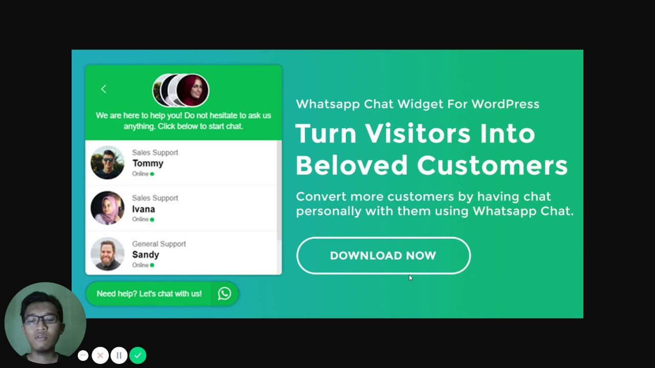 Okewapro Whatsapp Chat Widget for WordPress