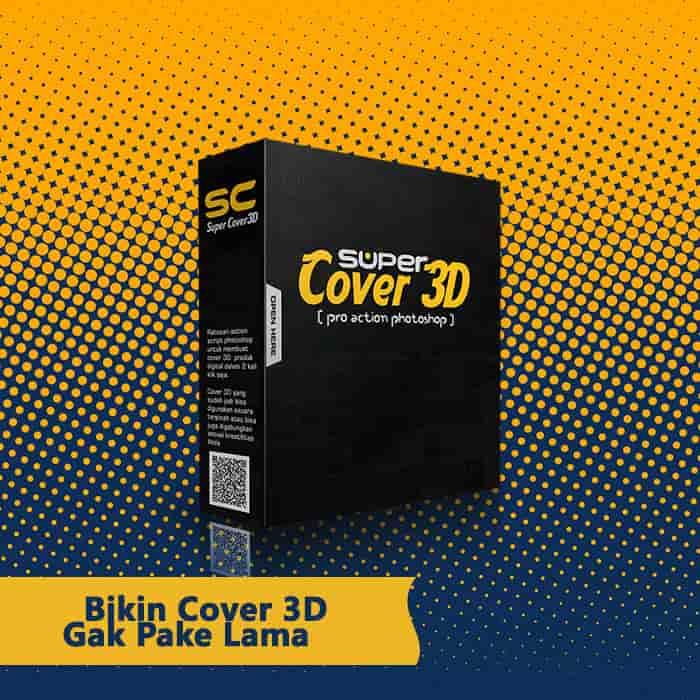 Super Cover 3D - Cover 3D Produk Digital Kualitas Profesional Murah
