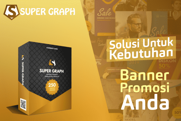 Super Graph 250 Template Banner Promosi PowerPoint-min